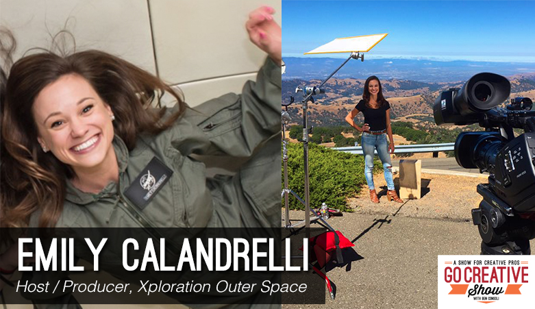 Emily Calandrelli, host of Xploration Outer Space