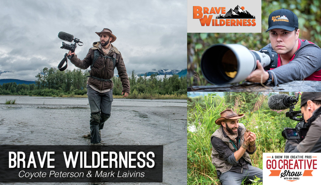 Coyote Peterson and Mark Laivins from Brave Wilderness on Go Creative Show with Ben Consoli