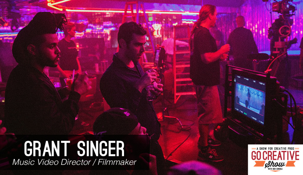 Music video director Grant Singer with Ben Consoli on Go Creative Show